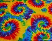Flannel Fabric - Rainbow Tie Dye Swirl - By the yard - 100% Cotton Flannel