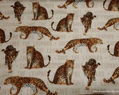 Flannel Fabric - Save the Leopard - By the yard - 100% Cotton Flannel