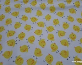 Flannel Fabric - Baby Birds Tossed - By the yard - 100% Cotton Flannel