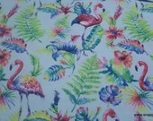 Flannel Fabric - Watercolor Flamingo - By the yard - 100% Cotton Flannel