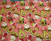 Christmas Flannel Fabric - Avochristmas - By the yard - 100% Cotton Flannel
