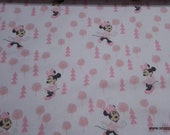 Flannel Fabric - Disney Little Meadow Minnie in the Meadow - By the yard - 100% Cotton Flannel