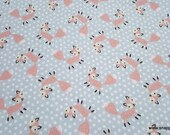 Flannel Fabric - Fox Dot - By the yard - 100% Cotton Flannel