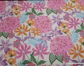 Flannel Fabric - Full Bloom Floral - By the yard - 100% Cotton Flannel