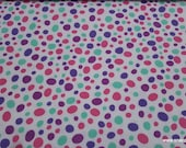 Flannel Fabric - Gypsy Pebbles Purple Pink Teal - By the yard - 100% Cotton Flannel