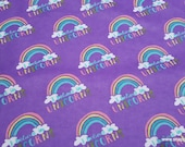 Flannel Fabric - I Believe in Unicorns Purple - By the yard - 100% Cotton Flannel