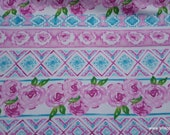 Flannel Fabric - Unicorn Floral Aztec - By the yard - 100% Cotton Flannel