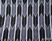 Flannel Fabric - Black Gray Arrow Geo - By the yard - 100% Cotton Flannel