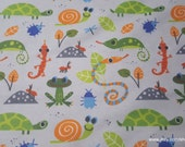 Flannel Fabric - Multi Color Insects - By the yard - 100% Cotton Flannel
