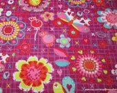 Flannel Fabric - Girly Scribbles  - By the yard - 100% Cotton Flannel