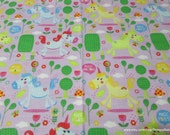Flannel Fabric - Magical Unicorns - By the yard - 100% Cotton Flannel