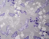 Flannel Fabric - Wanderer Birds - By the yard - 100% Cotton Flannel