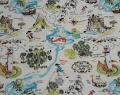 Flannel Fabric - Treasure Map Adventures - By the yard - 100% Cotton Flannel