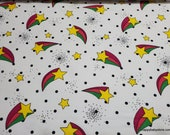 Flannel Fabric - Shooting Stars - By the yard - 100% Cotton Flannel
