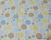 Flannel Fabric - Baby Dots  - By the yard - 100% Cotton Flannel
