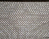 Quilters Flannel Fabric - Dots Cream - By the yard - 100% Cotton Quilters Flannel