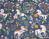 Flannel Fabric - Unicorn Magic Allover - By the yard - 100% Cotton Flannel