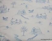 Christmas Premium Flannel Fabric - Christmas Joys White Winter Scene Premium  - By the yard - 100% Cotton Flannel