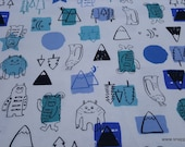 Flannel Fabric - Happy Forest Monsters - By the yard - 100% Cotton Flannel