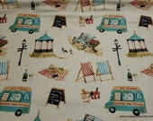 Flannel Fabric - Summer Scenes - By the yard - 100% Cotton Flannel