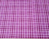 Flannel Fabric - Pinks Plaid - By the yard - 100% Cotton Flannel
