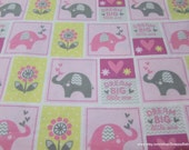 Flannel Fabric - Dream Big Patch Pink - By the yard - 100% Cotton Flannel