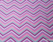 Flannel Fabric - Gypsy Dotted Chevron - By the yard - 100% Cotton Flannel