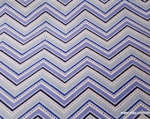 Flannel Fabric - Twilight Dotted Chevron - By the yard - 100% Cotton Flannel