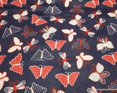 Flannel Fabric - Americana Butterfly - By the yard - 100% Cotton Flannel