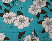 Flannel Fabric - Bee and Flower - 1 yard - 100% Cotton Flannel