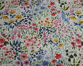 Flannel Fabric - Watercolor Floral Packed - By the Yard - 100% Cotton Flannel