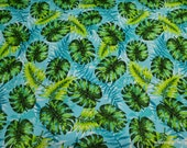 Flannel Fabric - Lovely Leaves - By the yard - 100% Cotton Flannel