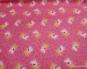Character Flannel Fabric - Peppa Pig and Strawberries - By the yard - 100% Cotton Flannel