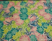 Flannel Fabric - Bright Floral- By the yard - 100% Cotton Flannel