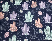 Flannel Fabric - Crystals - By the yard - 100% Cotton Flannel