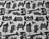 Flannel Fabric - Safari Friends - By the yard - 100% Cotton Flannel