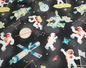 Flannel Fabric - Space Stuff Allover - By the yard - 100% Cotton Flannel