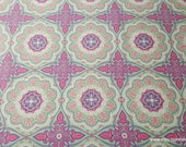 Flannel Fabric - Gypsy Medallion Purple Teal - By the yard - 100% Cotton Flannel