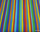 Flannel Fabric - Pete the Cat Rainbow Stripes - By the Yard - 100% Cotton Flannel