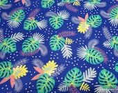 Flannel Fabric - Endless Summer Leaves - By the yard - 100% Cotton Flannel
