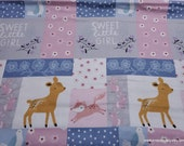 Flannel Fabric - Bear and Friends Patchwork - By the Yard - 100% Cotton Flannel