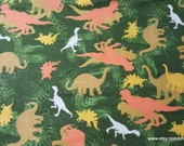 Flannel Fabric - Dino Camo - By the yard - 100% Cotton Flannel