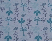 Flannel Fabric - Woods Mint Leaves - By the yard - 100% Cotton Flannel