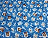 Character Flannel Fabric - Disney Frozen 2 Character Badge - By the yard - 100% Cotton Flannel