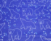 Flannel Fabric - Celestial Bear - By the yard - 100% Cotton Flannel