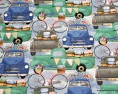 Flannel Fabric - Spring Trucks - By the Yard - 100% Cotton Flannel