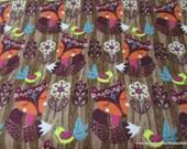 Flannel Fabric - Woodgrain Fox - By the yard - 100% Cotton Flannel