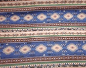 Flannel Fabric - Southwest Stripe Navy - By the yard - 100% Cotton Flannel