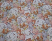 Premium Flannel Fabric - Packed Farm Animals - By the yard - 100% Premium Cotton Flannel
