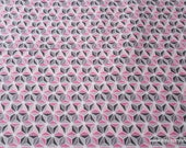 Flannel Fabric - Gray Pink Geometric - By the yard - 100% Cotton Flannel